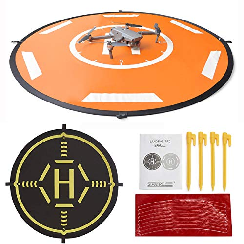 Drone Landing Pad Waterproof 40inch Portable Foldable Aircraft Launch Pad for Yuneec H520/H480,Inspire1/2 Landing Pad(110CM)