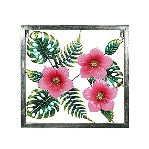 Liffy Arte de la pared de la flor del metal que cuelga el hogar decorativo para el dormitorio de la sala de estar -18 pulgadas