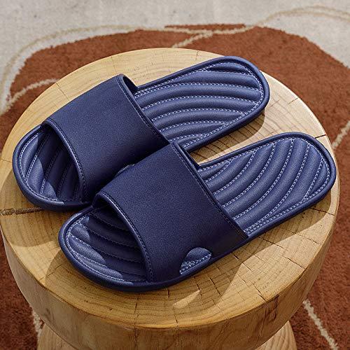 XZDNYDHGX Sandalias De Ducha NiñOs Y Adulto Azul Marino, Sandalias deslizantes de Suela Blanda para Uso doméstico de Verano para Mujer,Invitados para Interior Hombres EU 43-44