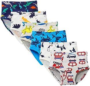Kidear Ropa Interior Kids Series de Algodón Suave Calzoncillos Surtidos de niños pequeños(Paquete de 6) (Estilo5, 4-5 Años)