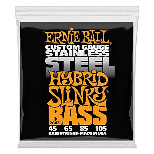 Cuerdas para bajos eléctricos Ernie Ball Hybrid Slinky de acero inoxidable -...