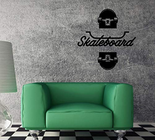 Muurtattoo Skate Skateboard Jump Street Sport Unieke sticker caz4785