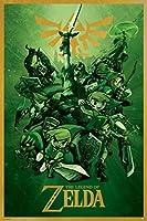 The Legend of Zelda Nintendoビデオゲームポスター24x 36