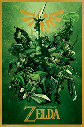 Pyramid America The Legend of Zelda Nintendo Video Game Cool Wall Decor Art Print Poster 24x36