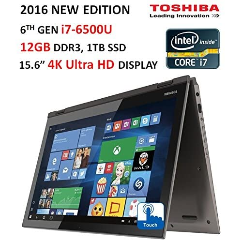 "2016 Toshiba Satellite Radius 2-in-1 Flagship Edition Laptop, 15.6"" 4K"