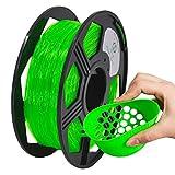 YOYI Filamento TPU 1,75 mm, TPU flessibile filamento 1,75 mm, TPU filamento stampante 3D flessibile 0.8 kg, Precisione Dimensionale +/- 0,02 mm (verde)