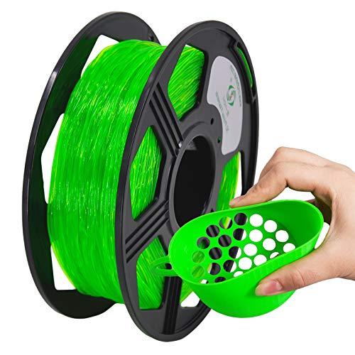 YOYI 3D Printer Filament,TPU Flexible Filament 1.75mm 0.8kg Spool Dimensional Accuracy +/- 0.03 mm,106% Europe Raw Material(green)
