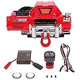 ZAJAHO Torno automático inalámbrico de Mando a Distancia for la 1:10 RC Coche orugas axial SCX10 90046 TRX4 Redcat Accesorios RC Accesorios de batería Herramientas (Color : Red)