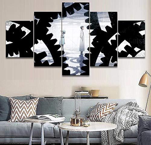 HNTHBZ Moderna Lienzo Pintura Arte de la Pared HD Imprime la decoración del hogar de 5 Piezas Animado jarras Puerta de Pintura Sala Modular for niños Fotos Obras de Arte Creativo del Cartel