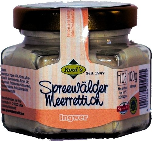 Koals Spreewald Meerrettich mit Ingwer 100 g
