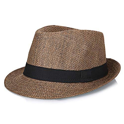 JIANGNANCHUN Zomer Koreaans linnen ademende verfrissende kleine hoed reizen partner (Kleur : Koffie, Maat : L58-60cm)