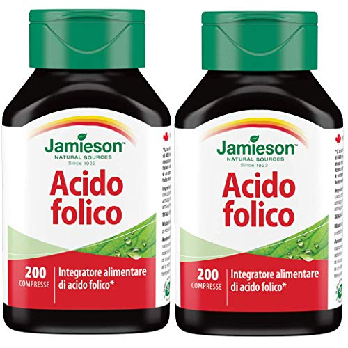 Jamieson Acido Folico, 50 gr (2 Confezioni da 200 Compresse)