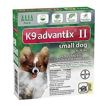 Ax Advantixii Dog 4mon 4-10lb Grn by K-9 Advantix ii