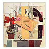 JLFDHR ZNNHEROPablo Picasso Girl with Mandolin, 1910' Canvas Oil Painting Art Poster Print Wall Home Decor-70X70Cmx1 Sin Marco