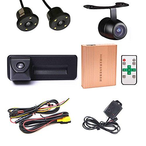 Caméra de recul panoramique à 360 degrés avec caméra de recul avant HD pour poignée Trunk Handle VW Skoda/Superb Combi/Yeti/Fabia Y6/Octavia/Audi A1