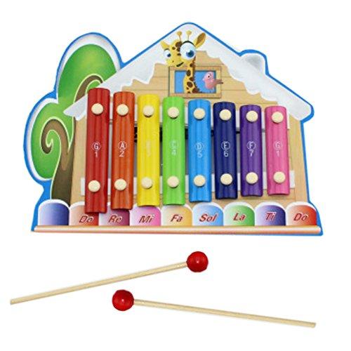 Mignon Tunes peluche musicale/Instrument de musique pour enfant, cabane