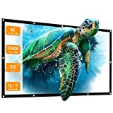 Projector, Apeman Projection Screen 100 Inch HD 4K Outdoor Indoor Projector Screen Fast Folding Portable Film Screen 16:9 for Home Cinema, Camping, Indoor Meeting and Backyard, Projector Screen