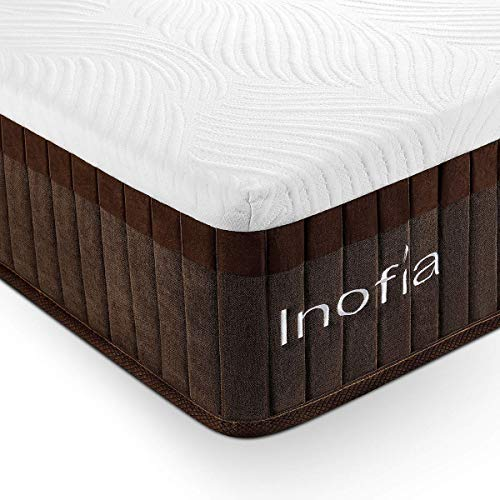 Inofia Queen Mattress, Bed in a Box, Sleeps Cooler with More Pressure Relief & Support Than Memory Foam,CertiPUR-US...