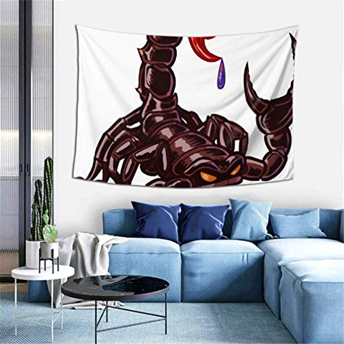 N\A Tapiz de Pared Vector de Dibujos Animados Clip Art Mascota Ilustración Tapiz Colgante de Pared Tapiz Divertido Decoración de Arte de Pared para Dormitorio Sala de Estar Dormitorio,