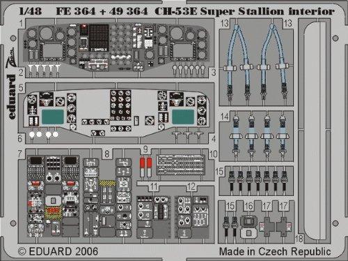 Eduard Accessories fe364Modello Costruzione di Ch 53E Super Stallion interiore per Academy/MRC Kit di Costruzione