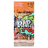 wandmotiv24 Türtapete Graffiti 1 90 x 200cm (B x H) - Papier Tapete, Tür-Aufkleber, Türbild, Wandbild M0025