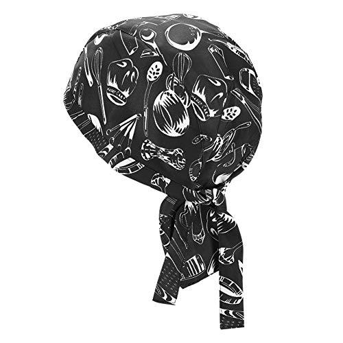 ITODA Skullcap Unisex Kappe Erwachsene Kopfbedeckungen für Damen Herren Kochmütze Skully Cap Atmungsaktive Sport Beanie Bistromütze Einheitsgröße Mütze für Kochen Radsport Fitness BBQ Motorrad