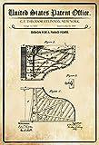 FS Patent Entwurf für Ein Piano-Steinway - Cartel de Chapa Curvado (20 x 30 cm)