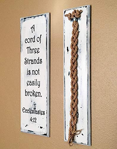 A Cord of Three Strands Shabby Wedding Board Unity Jute Braids Set