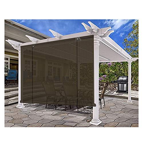 XJJUN Persianas, Aislamiento Térmico Y Refrigeración, Protección De Privacidad, Impermeable Y Resistente A La Lluvia, para Porches, Decks, Pérgola, Terrazas (Color : Brown, Size : 0.75x2m)