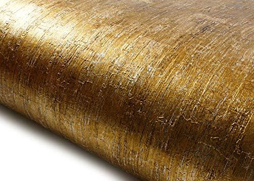 ROSEROSA Peel and Stick PVC Instant Metallic Decorative Self-Adhesive Wallpaper Covering Countertop Backsplash Abstract Metal (NI941 : 2.00 Feet X 6.56 Feet)