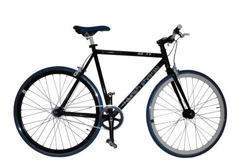 "Gotty Bicicleta Fixie FX-40, Cuadro Fixie Acero 28"", Llantas Doble Pared, piñon Fijo, Bielas de Aluminio, tija de sillín de Aluminio, Color Negro"