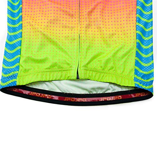 Weimostar Radtrikot Damen Radtrikot Reißverschluss Mountainbike Shirts Kurzarm Rennradoberteile Pro Team Racing MTB Tops für Damen Damenbekleidung Größe M - 9