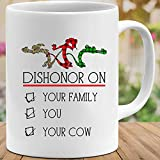 Amirna Dishonor on Your Family You Your Cow #Mulan 1998#Eddie Murphy #Mushu Mens Womens Mugs Cups Coffee