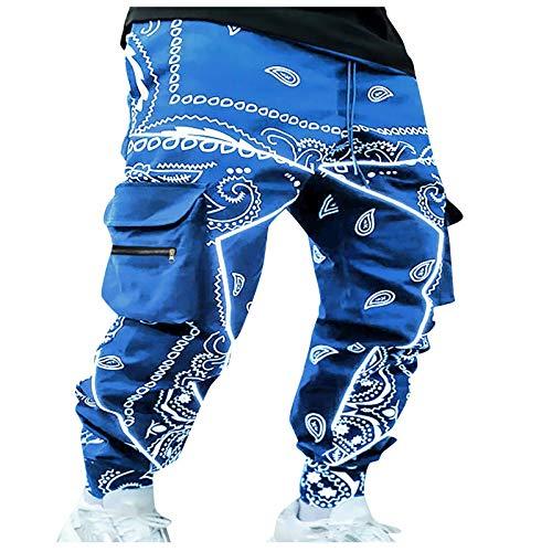 2021 Nuevo Pantalones Hombre Casual Moda Deportivos Running Pants Hip Hop Jogging Pantalon Impresión Fitness Gym Slim Fit Pantalones Largos Ropa de Hombre Pantalones de Trekking