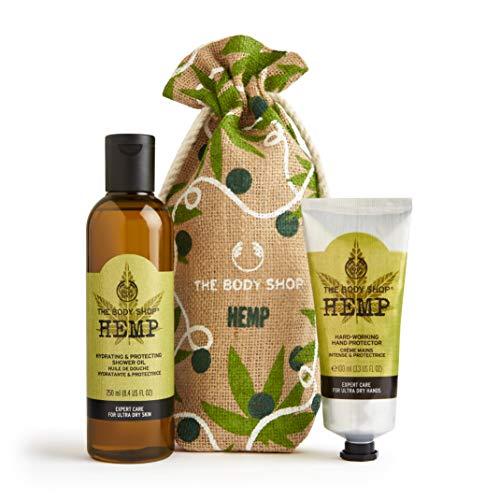 The Body Shop Hemp Power Duo Holiday Gift Set Includes Hemp Shower Oil and Hemp Hand Protector,11.83 Fl Oz