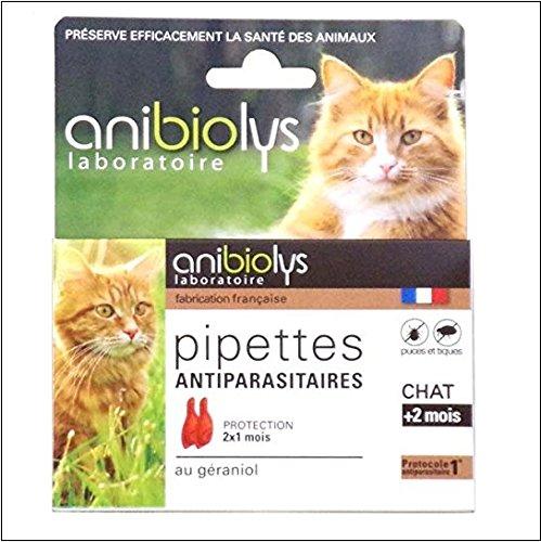 Anibiolys Préventif Pipettes Antiparasitaires Chat 2 Unités