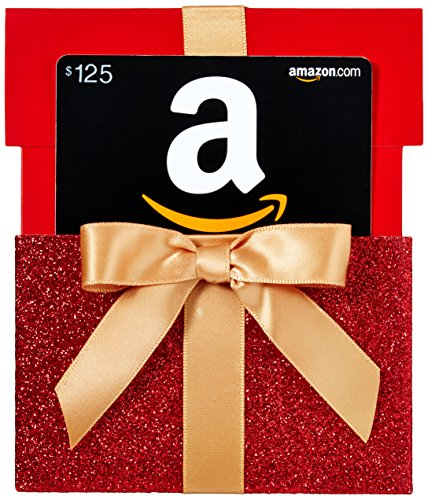 Amazon.com $125 Gift Card in a Gift Box Reveal (Classic Black Card Design)