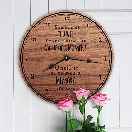 Mari57llis Soms zul je nooit weten de waarde van een moment totdat het wordt een geheugen Dr Suess Quote, Klok alleen, 15