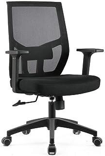 MUMUMI Respaldo Transpirable con sillas de Escritorio de reposabrazos, Silla de Tarea de rotación y elevación ergonómica, sillón de reunión de la Oficina de la Oficina de la polea de Baja Ruido de la