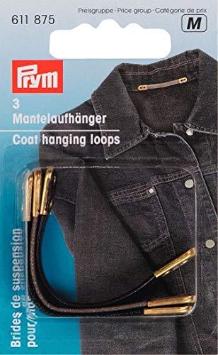 PRYM 3-teilig Kunstleder Sortiert Coat Schlaufen zum Aufhängen