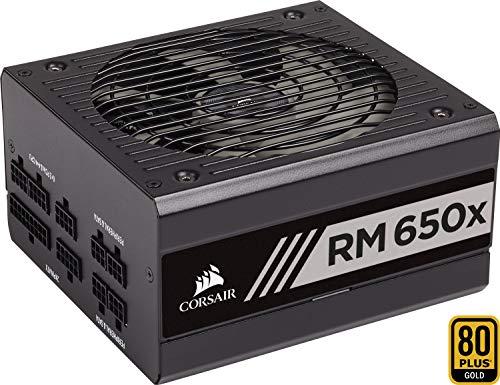 bester Test von e plus netz Corsair RM650x PC-Netzteil (vollständig modulares Kabelmanagement, 80 Plus Gold, 650 W, EU)