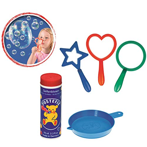 Carrera Toys Pustefix Mini Mix 70 ml + Fluido 3 Anelli Bubble Set 869-455