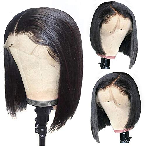 Short Bob Wigs Human Hair Lace Front Wigs 10inch Human Hair Wigs Bob Wigs for Black Women Bob Lace Front Wigs Pre-plucked Hairline 150% Density