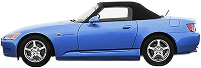 Sierra Auto Tops Convertible Soft Top Replacement, compatible with Honda S2000 2000-2001, w/Heated Glass Window, Twill Grain Vinyl, Black
