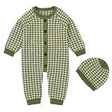 Tianhaik - Mono de algodón para bebé y niña verde 0-6 Meses
