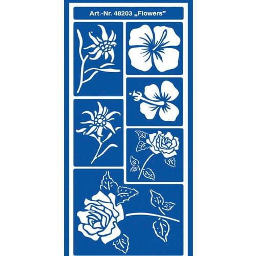 HOME Design Motiv-Schablone Flowers