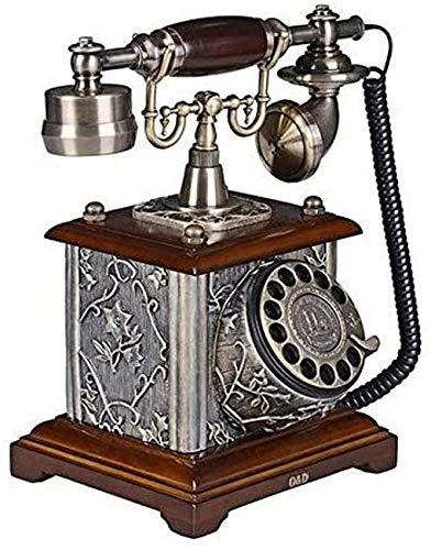 LXLH Teléfono Fijo Retro, teléfono Fijo de marcación giratoria Fija para el hogar Teléfono de Tono mecánico Retro Europeo