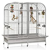 Montana Cages ® | Papageienkäfig XXL Los Angeles - Platinum Käfig, Voliere, Zimmervoliere für...