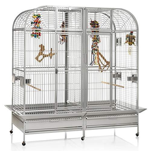 Montana Cages ® | Papageienkäfig XXL Los Angeles - Platinum Käfig, Voliere, Zimmervoliere für Papageien FRACHTFREI