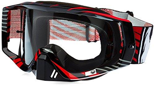 Dragon Vendetta Vox - Gafas de esquí antivaho, Color Rojo y Transparente